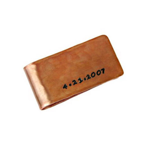 Custom Copper Money Clip - Landscape Orientation
