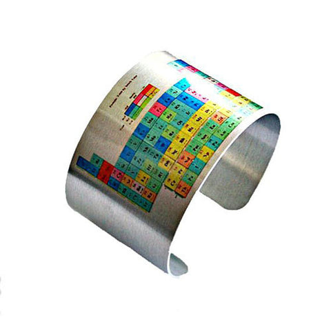 Periodic Table of Elements - Aluminum Cuff Bracelet