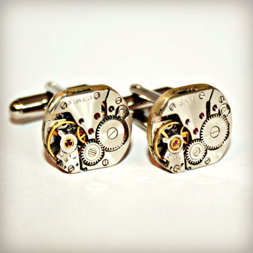Steampunk Vintage Watch Movement Cufflinks