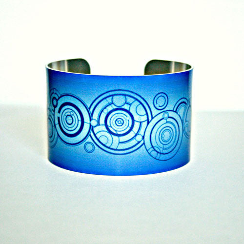 Dr. Who's Name in the Gallifreyan Language - Aluminum Cuff Bracelet