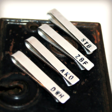 Set of 4 Custom Tie Clips