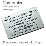 Custom Stamped Aluminum Wallet Inserts - Brushed Matte Finish