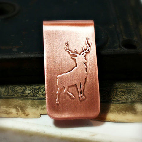 Deer - Etched Money Clip