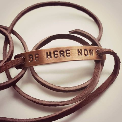 Be Here Now Copper Wrap Bracelet