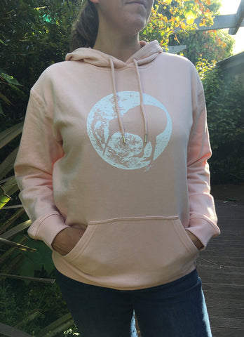 Ladies Pink Moonlight Kiwi Hoodie