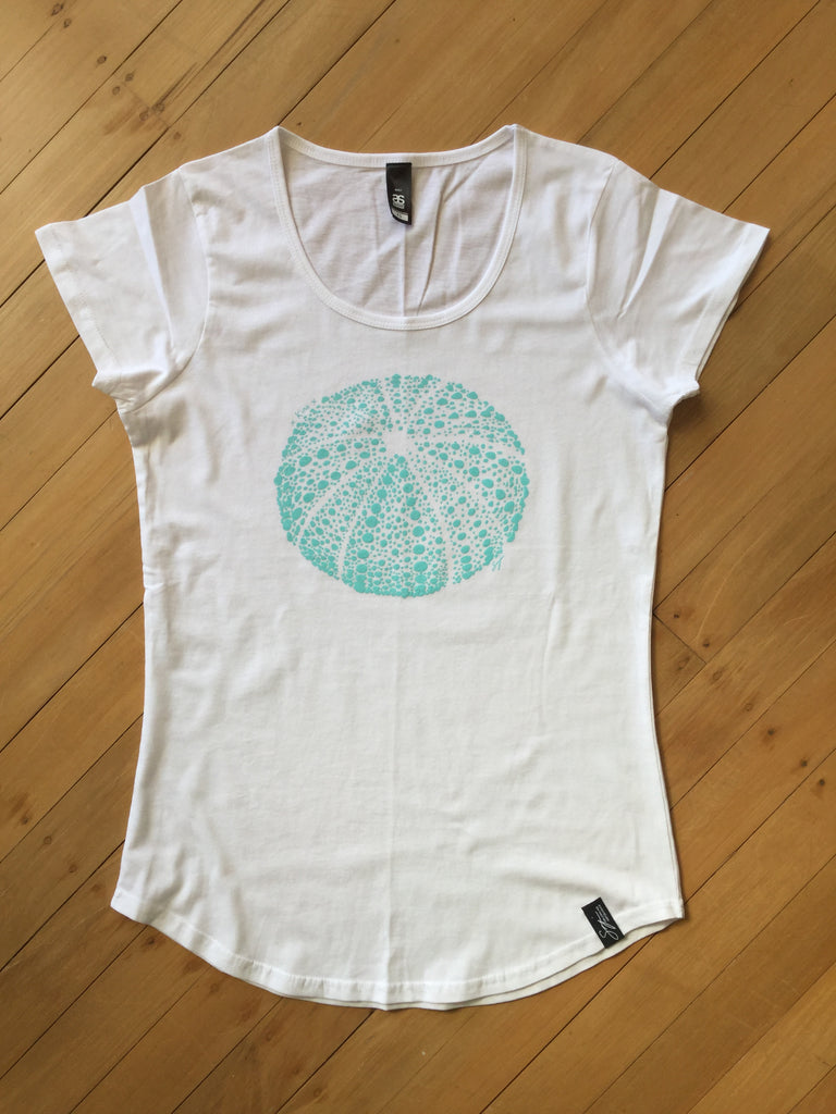 Ladies White Kina T-shirt