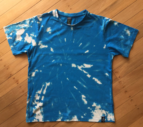 Kids Blue Tie-Dye Flips T-shirt