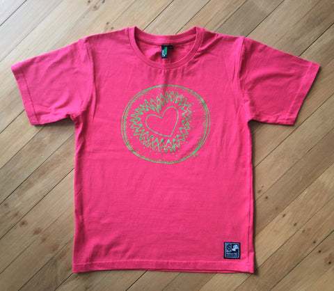 Kids Cranberry Kiwi T-shirt