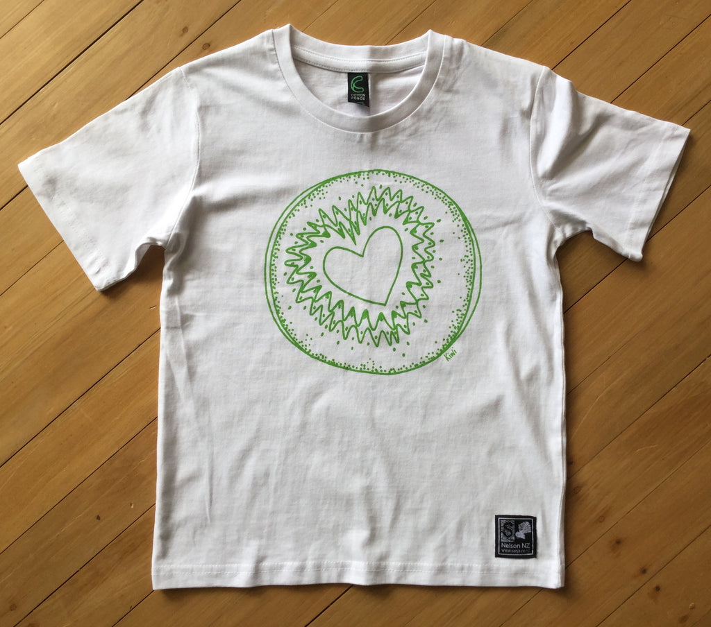 Kids White Kiwi T-shirt