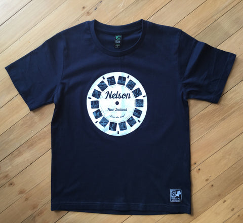 Kids Navy Retro Nelson Viewfinder T-Shirt