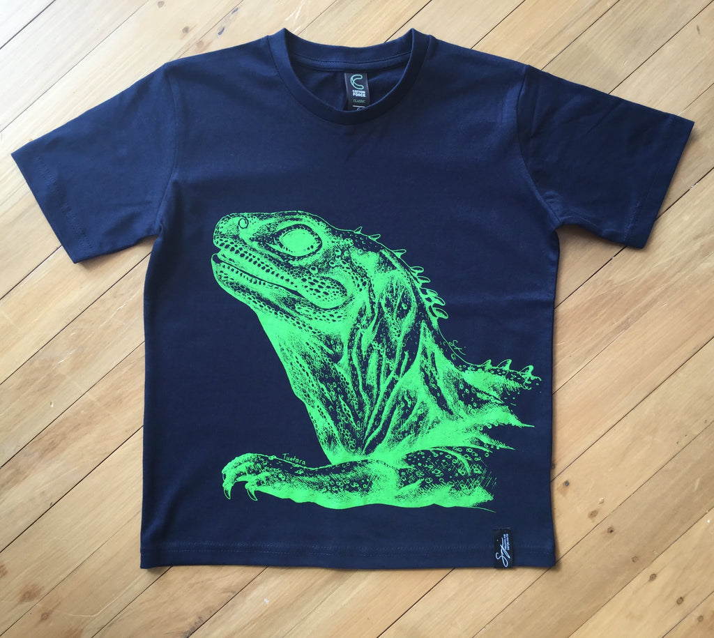 Kids Navy Tuatara T-Shirt