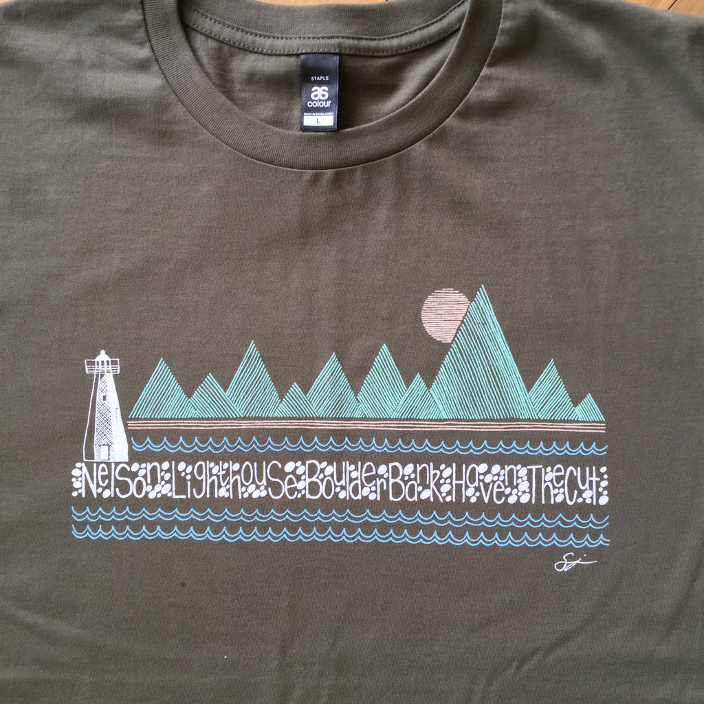 Nelson Boulder Bank Lighhouse T-shirt