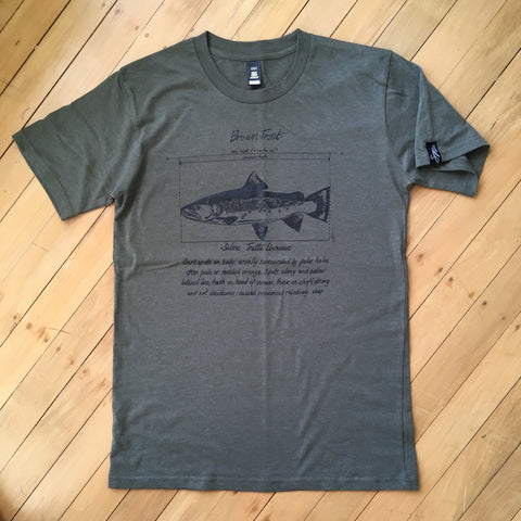 Brown Trout Khaki t-shirt