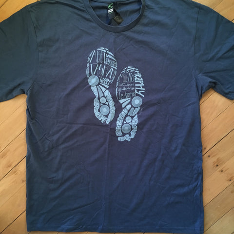 Men's Tramping Footprints T-shirt