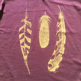 NZ Made Mulberry Feather Tee
