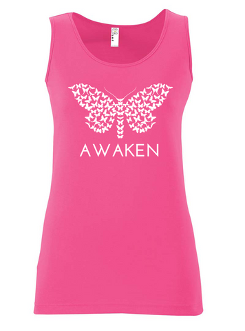 Awaken Ladies Tank Pink