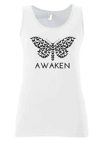 Awaken Ladies Tank White