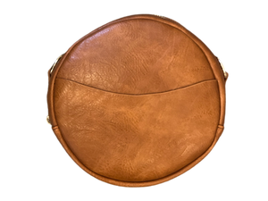 Large Round Vegan Messenger- NO STRAP ( More Colors )