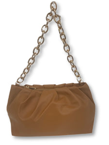 Soft Faux Leather Shoulder Bag & Chain Strap                         More Colors