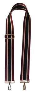 "3-Stripe Cotton 2"" Adjustable Bag Strap-ASSORTED COLORS!"