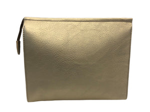Classic Faux Leather Zip Top Convertible Clutch                   More Colors