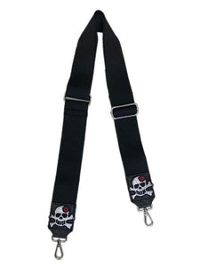 Novelty Black Bag Strap- Silver Hardware ( More Options )