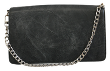 Load image into Gallery viewer, Small Vegan Leather Flap Bag with Chain