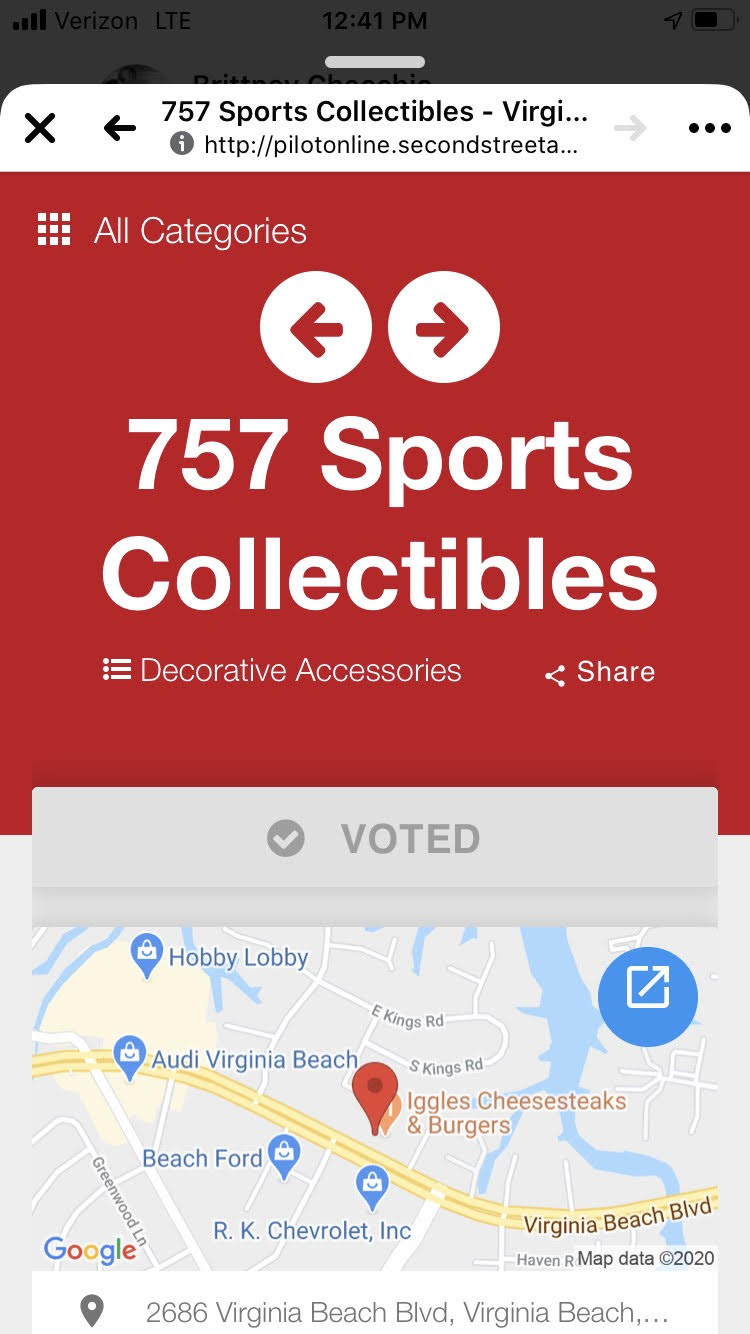 Vote 757 Sports Collectibles Best Specialty Store in Virginia Beach