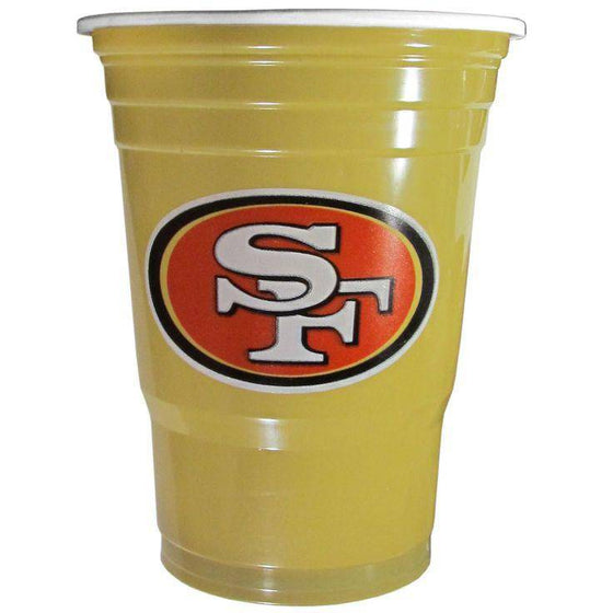 NFL San Francisco 49ers Gameday Plastic Solo Cups (18 pack - 18 oz) - 757 Sports Collectibles