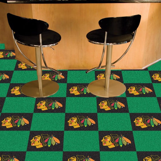 Chicago Blackhawks Team Carpet Tiles