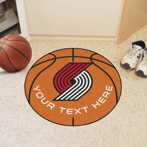 Portland Trail Blazers Personalized Basketball Mat