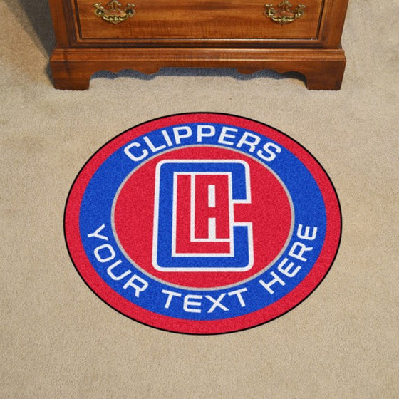 Los Angeles Clippers Personalized Roundel Mat