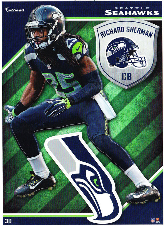 NFL Seattle Seahawks Richard Sherman Fathead Tradeable Decal Sticker 5x7
