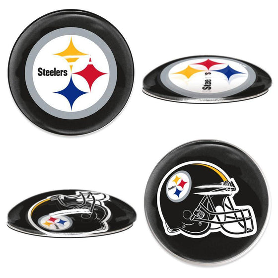 NFL Pittsburgh Steelers Magnetic Sports Dots 1 inch Fridge, Cabinet, Locker