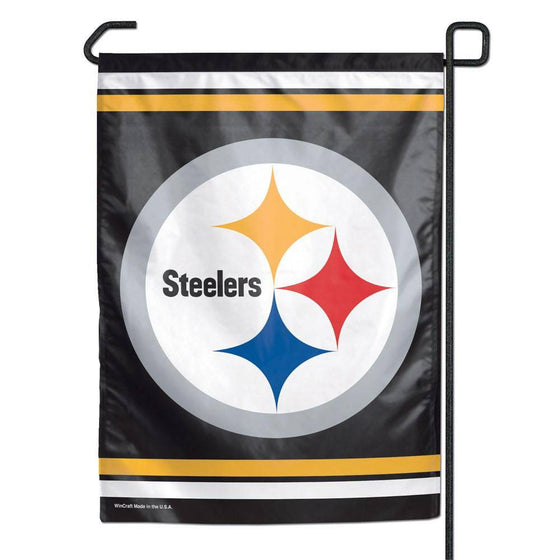 "Pittsburgh Steelers Small Garden Flag 11""x15"" - 757 Sports Collectibles"