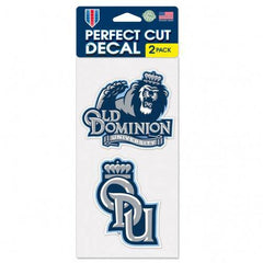 NCAA Old Dominion University ODU Monarchs 2 pack 4x4 Decals