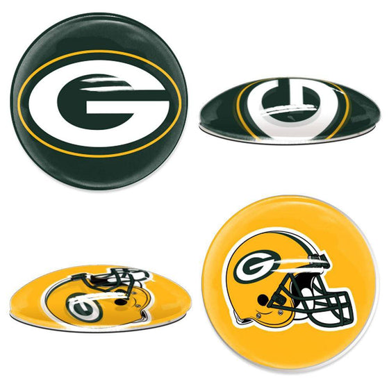 NFL Green Bay Packers Magnetic Sports Dots 1 inch Fridge, Cabinet, Locker - 757 Sports Collectibles