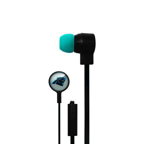 Carolina Panthers Big Logo Earbud Headphones with Microphone