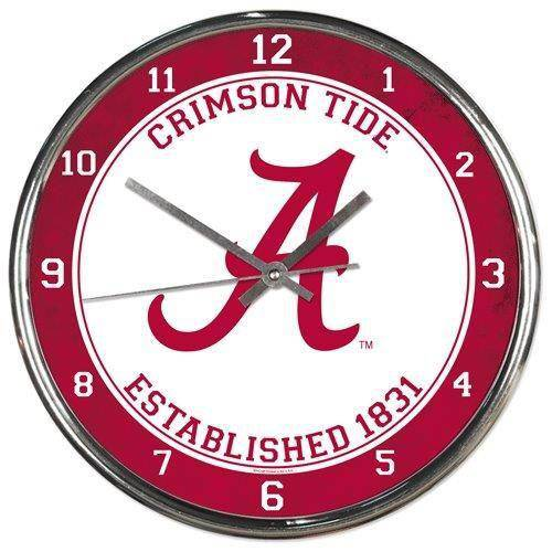 Alabama Crimson Tide Round Chrome Wall Clock (CDG)