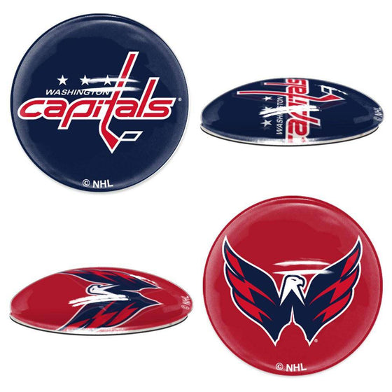 NHL Washington Capitals Magnetic Sports Dots 1 inch Fridge, Cabinet, Locker