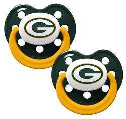Green Bay Packers Orthodontic 2 Pack Pacifier