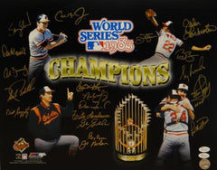 1983 Baltimore Orioles Signed 16x20 WS Champs Multi-Shot PF. Photo- JSA W Auth