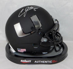 Andre Johnson Signed Miami Hurricanes Black Schutt Mini Helmet JSA W Auth *Silve