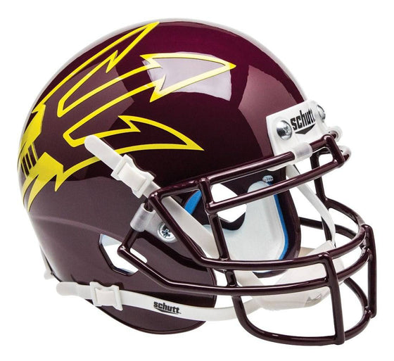 Arizona State Sun Devils Schutt Mini Helmet - Alternate Helmet #9, Maroon & Large Pitchfork (CDG)