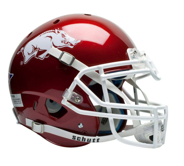 Arkansas Razorbacks Schutt Authentic XP Full Size Helmet (CDG)