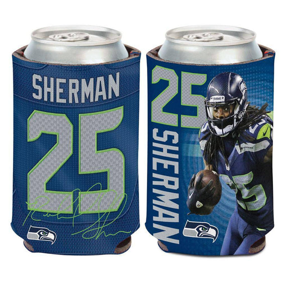 NFL Seattle Seahawks Richard Sherman 12 oz Can Cooler - 757 Sports Collectibles