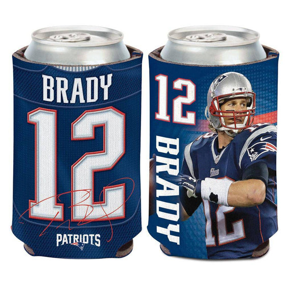 NFL New England Patriots Tom Brady Neoprene Can Coolor Koozie - 757 Sports Collectibles