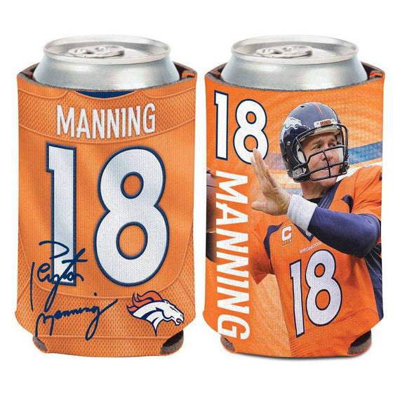 NFL Denver Broncos Peyton Manning Neoprene Can Coolor Koozie - 757 Sports Collectibles