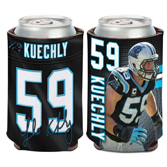 NFL Carolina Panthers Luke Kuechly Neoprene Can Coolor Koozie - 757 Sports Collectibles