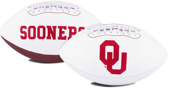 Oklahoma Sooners Football Full Size Embroidered Signature Series (CDG)